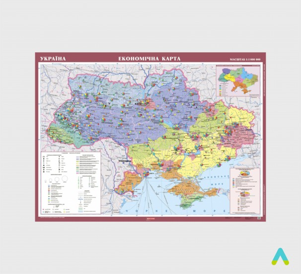 Україна. Економічна карта, м-б 1:1 000 000 (на планках)