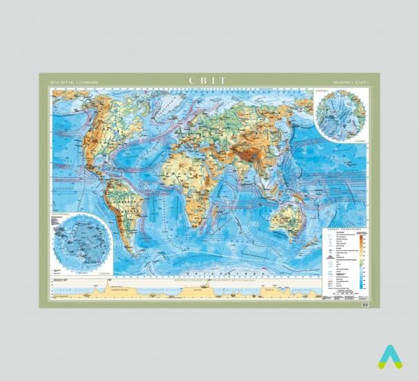 Світ. Фізична карта - фото