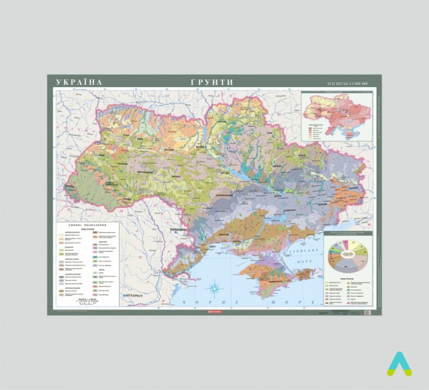 Україна. Грунти, 1:1 000 000 (на планках) - фото