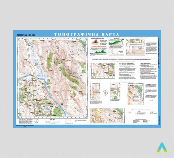 Топографічна карта, 1:25 000 (на планках) - фото