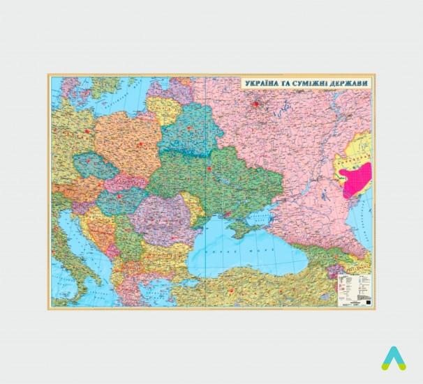 Карта «Україна та суміжні держави» - фото