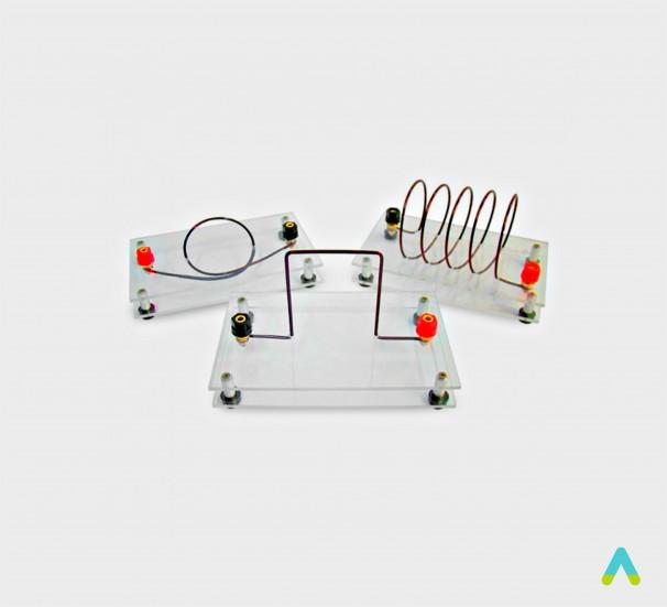 Набір для демонстрації спектрів магнітного поля струму - фото