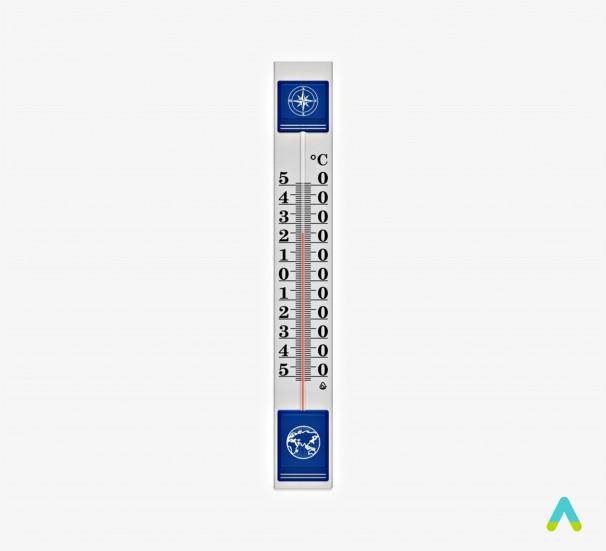 Термометр металевий великий - фото