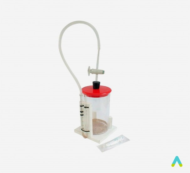 Прилад для виявлення дихального газообміну у рослин