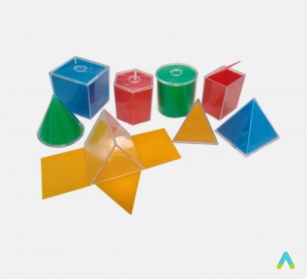 Набір прозорих геометричних фігур з розгорткою - фото