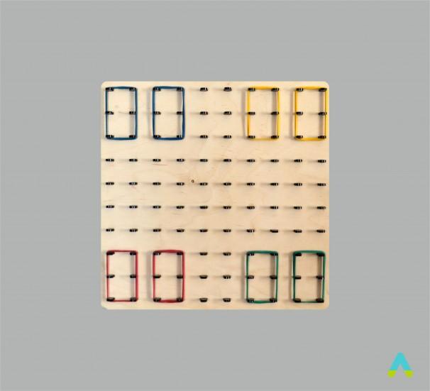 Математичний планшет (10*10, дерево) - фото
