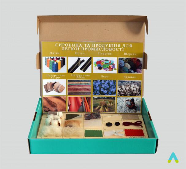 """Колекція """"Сировина та продукти для легкої промисловості"""" (20 зразків) - фото"""