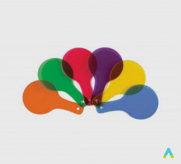 Віяло кольорове - фото