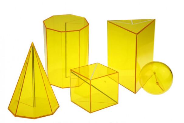 Набір стереометричний демонстраційний з прозорого пластику - фото