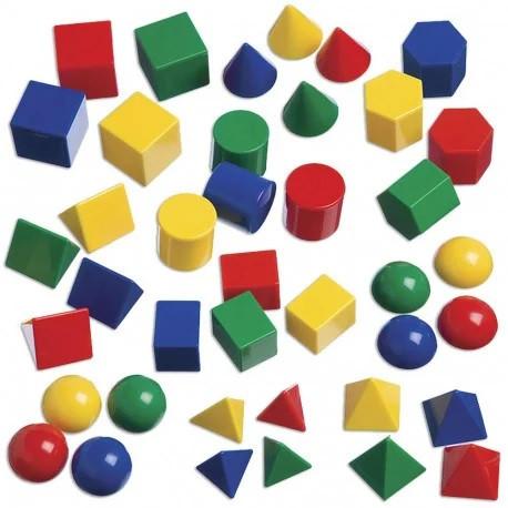 Набір геометричних фігур (40 шт.) - фото