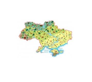 """Карта """"Рослини і тварини"""". Моя Україна - фото"""