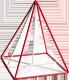 фото - Правильна чотирикутна піраміда